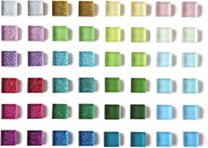 48 Pack Glass Fridge Magnets for Refrigerator Cute Magnets Glitter Colorful Decorative Magnets for Office Locker Magnets for Whiteboard