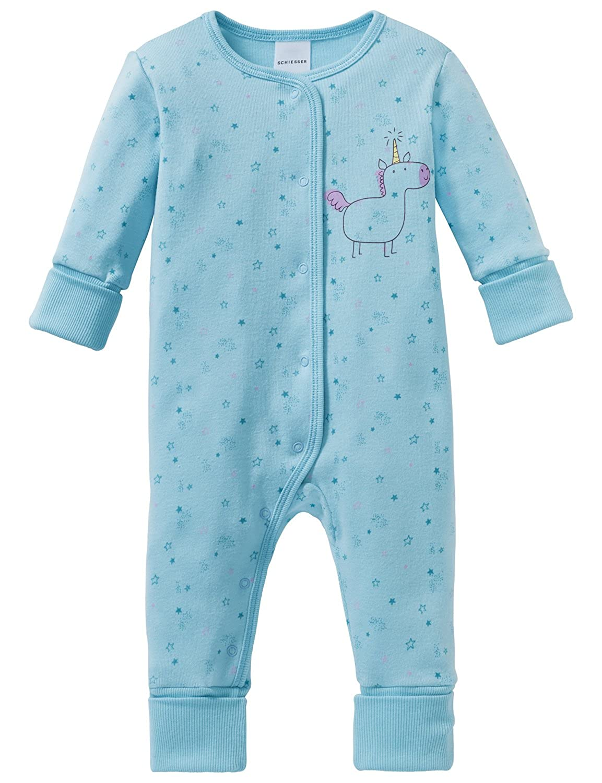 Schiesser Mädchen Zweiteiliger Schlafanzug Einhorn Baby Anzug mit Vario 163370