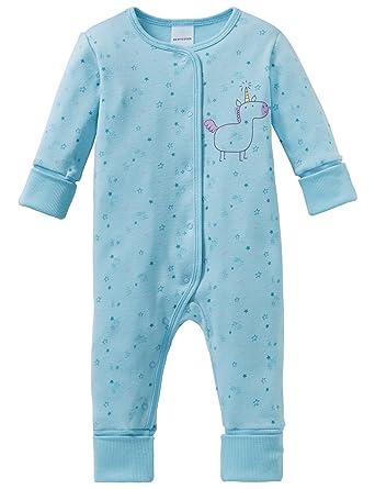 Schiesser Baby-M/ädchen Anzug mit Vario Fu/ß Zweiteiliger Schlafanzug