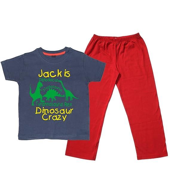 Edward Sinclair para Ropa de Niños Pijama Crazy de Personalizado de tu Propio Dinosaur Juego de