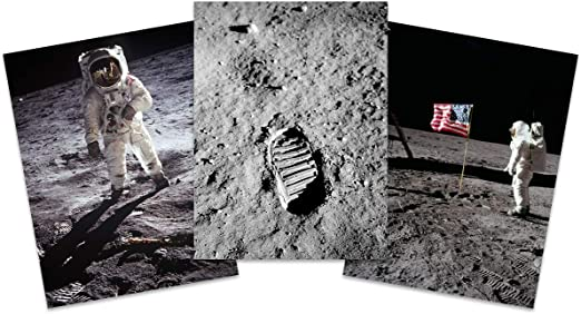 Moon Landing Astronaut Giant Poster Art Print