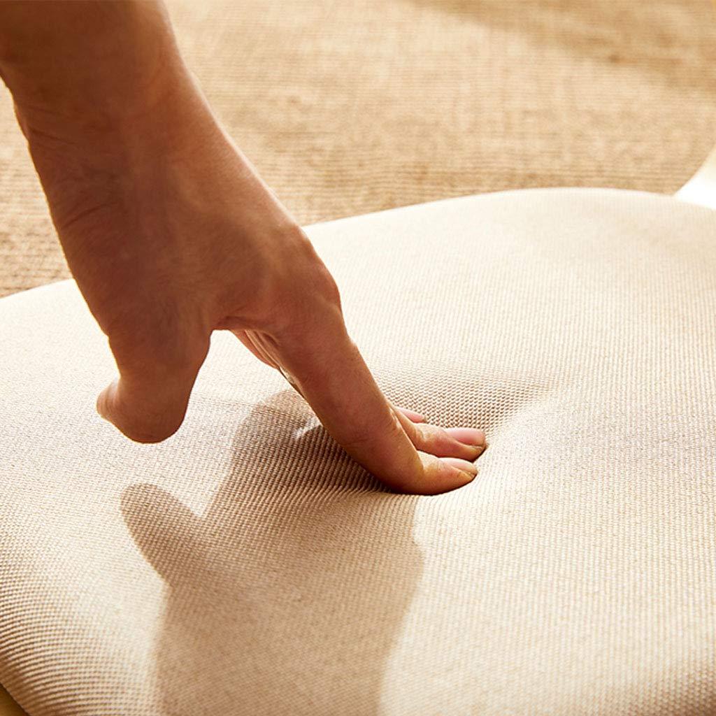 Tocadores bomull linne tyg golvstol vardagsrum lat stol med naturligt trä laminerad plywood böjd baksida stöd vattentät stapelbar för meditation spel yoga nr 4