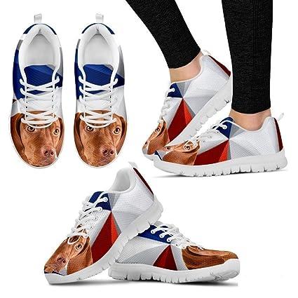 8fb5bc8ea278 Petz-Plus Vizsla Dog Print Custom Running Tennis Shoes Sneakers - Women