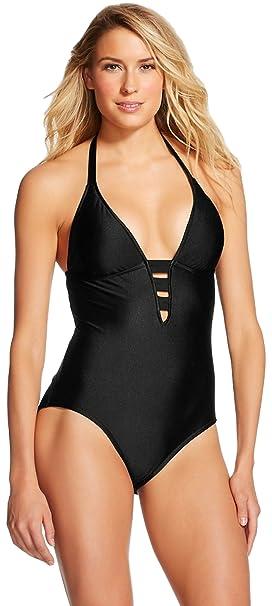Amazon.com: mossimo Strappy una pieza traje de baño de la ...
