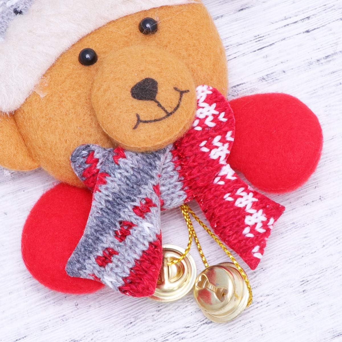 STOBOK Weihnachten f/ührte B/ärnglocken-Funkelnabzeichen der Broschen leuchtende Brosche f/ür Weihnachtskindergeschenk-Parteibevorzugungen