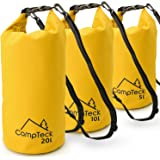 CampTeck 5L, 10L & 20L Dry Sack Waterproof Floating Storage Dry Bag for Camping, Rafting, Fishing, Canoeing, Boating, Kayaking, Snowboarding, Swimming, Diving etc. – Yellow