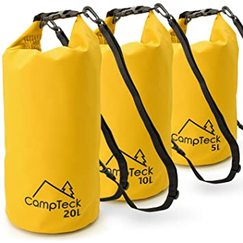 Amazon.com : CampTeck 5L, 10L & 20L Dry Sack Waterproof ...
