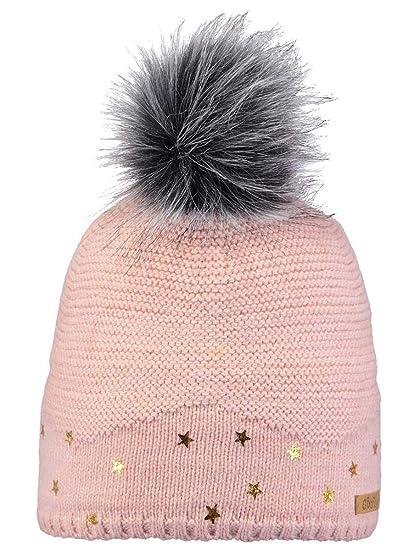 BARTS - Bonnet Pompon Imitation Fourrure Rose Tendre Enfant Fille 3 au 10  Ans  Amazon.fr  Vêtements et accessoires e278fb0e198