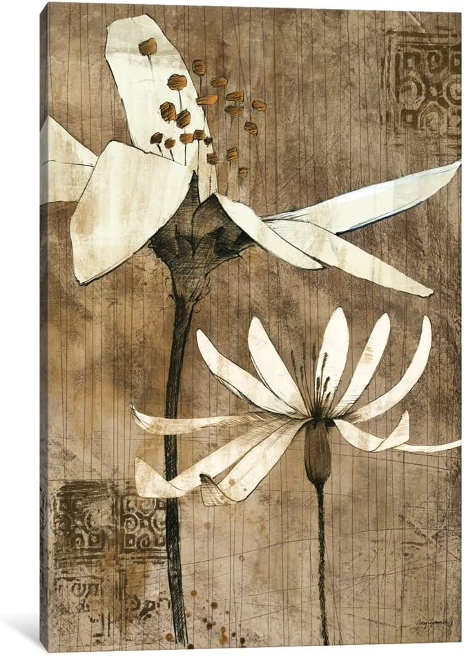 Icanvasart 1 Piece Pencil Floral Ii Canvas Print By Avery Tillmon 12 X 8 0 75 Depth Posters Prints