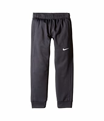 69a9e888f20b Nike Boys Therma-FIT Tapered Cuffed Pants Joggers Black White 853723-010 (