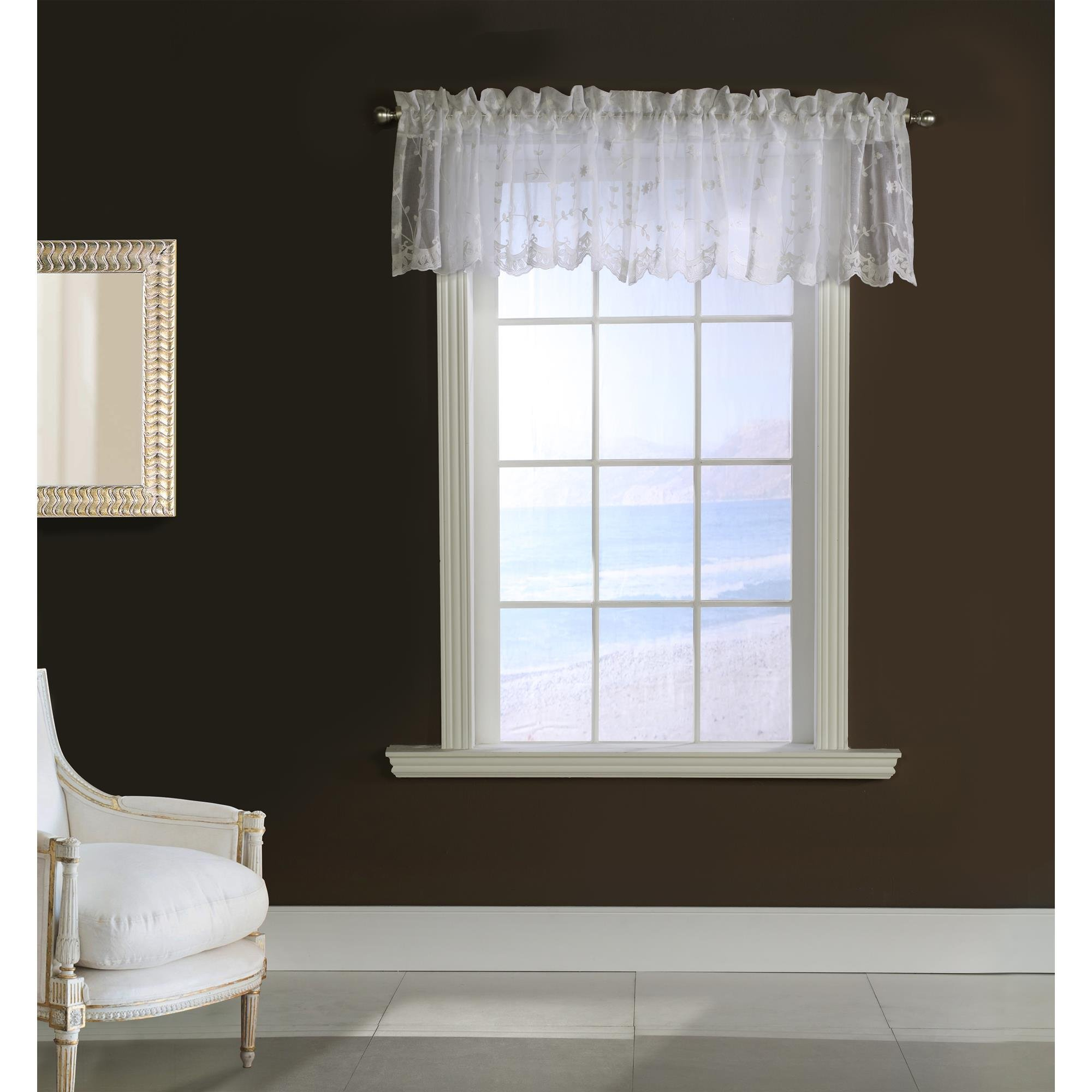 Commonwealth Grandeur 17'' Pole Top Valance in White