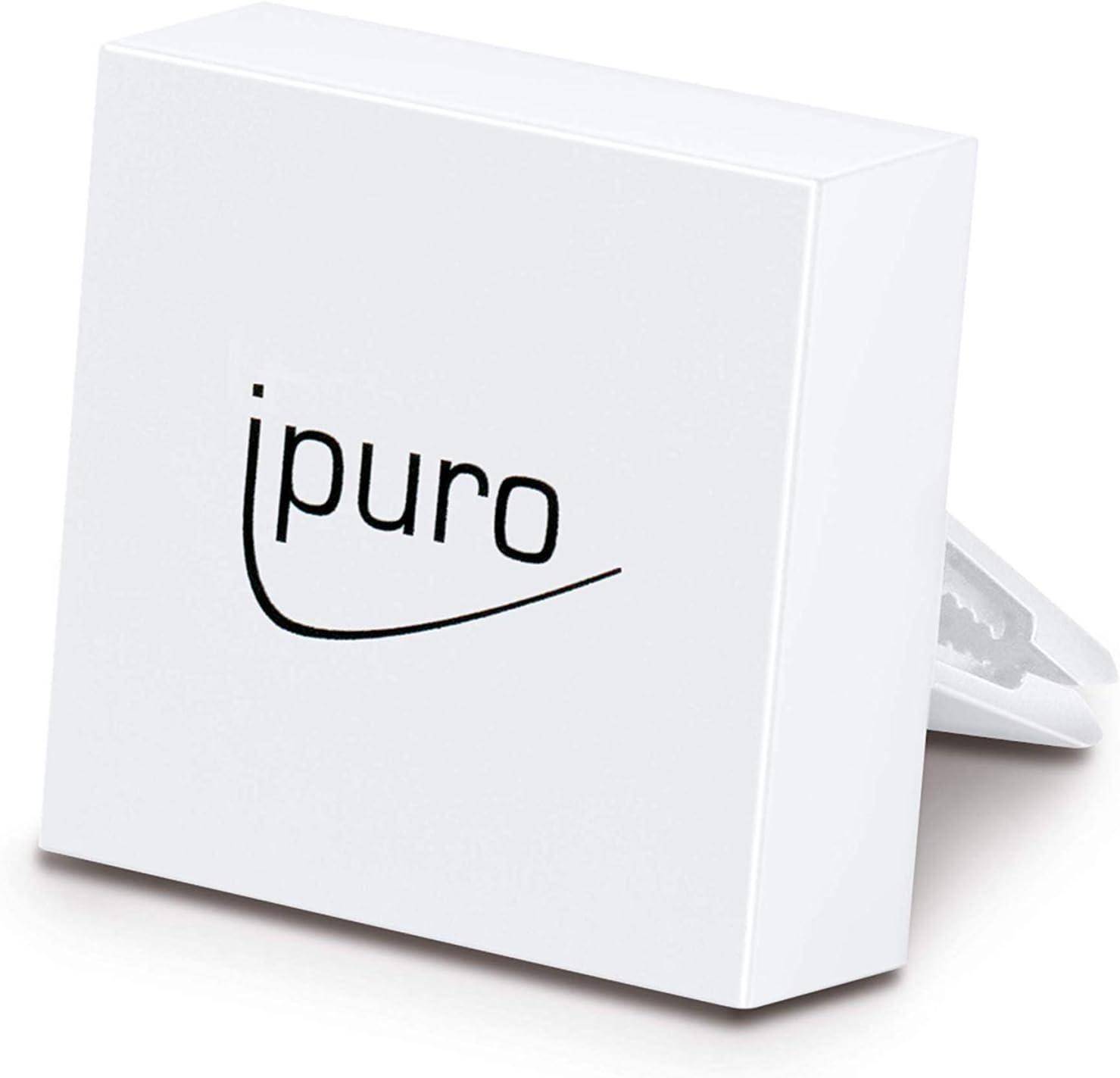 Ipuro Autoduft Car Clip White Hochwertiger Duftspender Für Ihr Auto Einfache Montage Am Lüftungsgitter Automatische Verteilung Durch Die Lüftung Drogerie Körperpflege