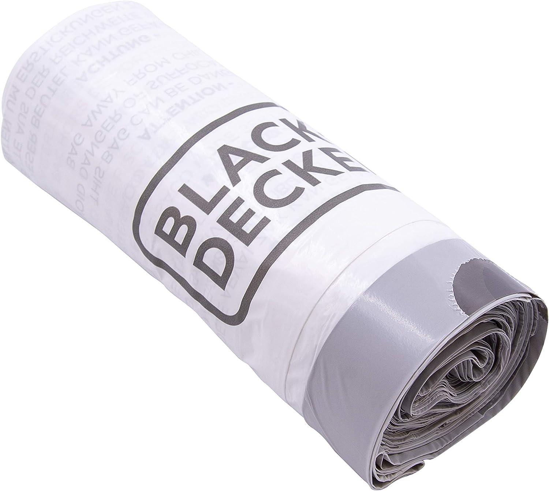 White BLACK+DECKER BXBB00030E 30L Drawstring Bin Liners 20 Pack