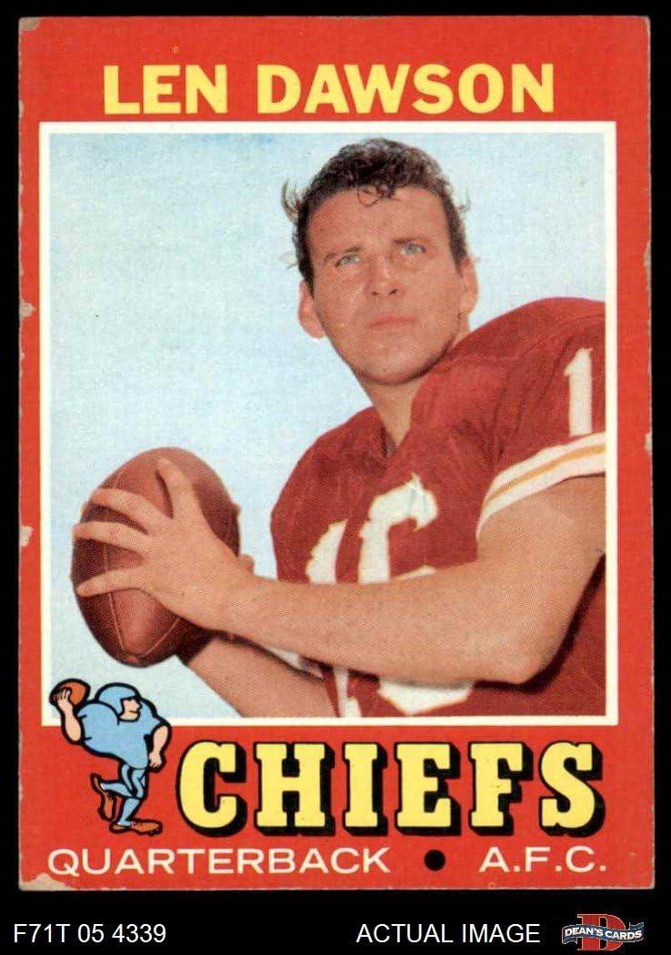 1988 Swell #137 Kansas City Chiefs Len Dawson football card