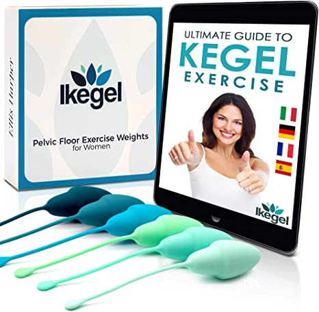 Ikegel Kegel Bolas Chinas Intimina Con Libro Electronico En Espanol | Fácil de Usar | Juego De 6 Pelotas De Ejercicio De Silicona | Bolas Kegel | ...