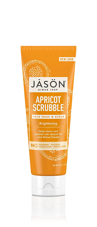 Jason Brightening Apricot Scrubble Wash and Scrub 4 Ounces 300304