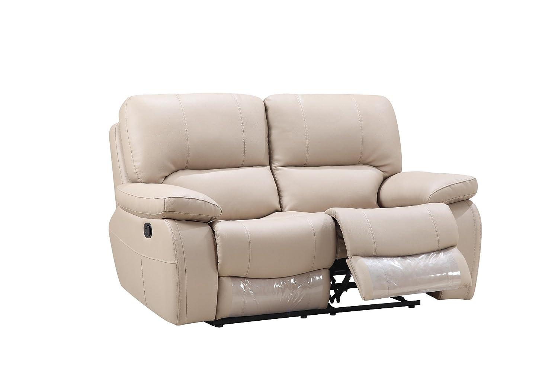 Amazon com blackjack furniture 9389 beige l loveseat italian leather den beige kitchen dining