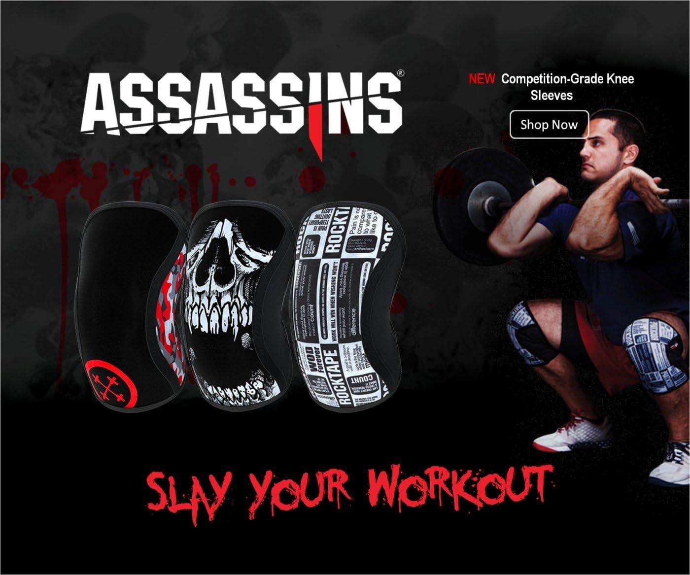 RockTape Assassins Knee Sleeves Knieschoner Skull 5mm