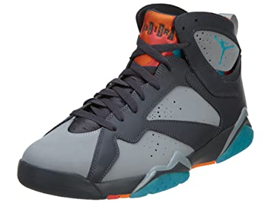 online store 88c0b 274e9 ... netherlands jordan air 7 retro barcelona days mens shoes dark grey  turquoise blue wolf grey db574