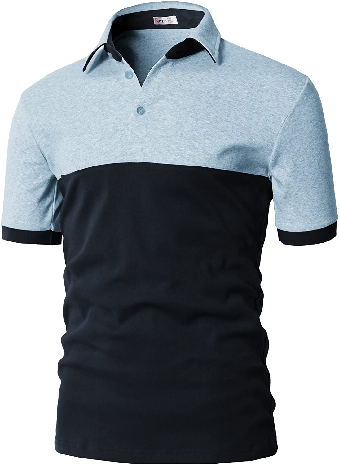 H2H Mens Casual Slim Fit Polo T-Shirts of Various Styles and Designed: Clothing