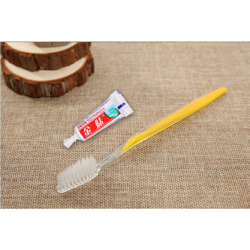 5 colori Spazzolini monouso 30 pezzi con dentifricio
