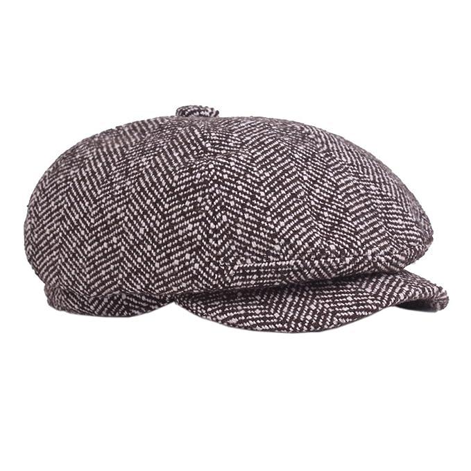 XueXian(TM) Hombre de Boina Sombrero de Estilo Britã¡Nico de Sombreros de 10b323c850d