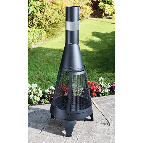 Outdoor Chimenea Fireplace, Made of Steel, Diameter 45x 120cm, Garden Patio Heater