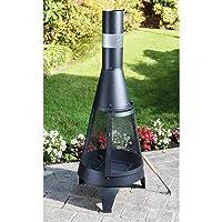 Gartenkamin XXL schwarz Garden Oven