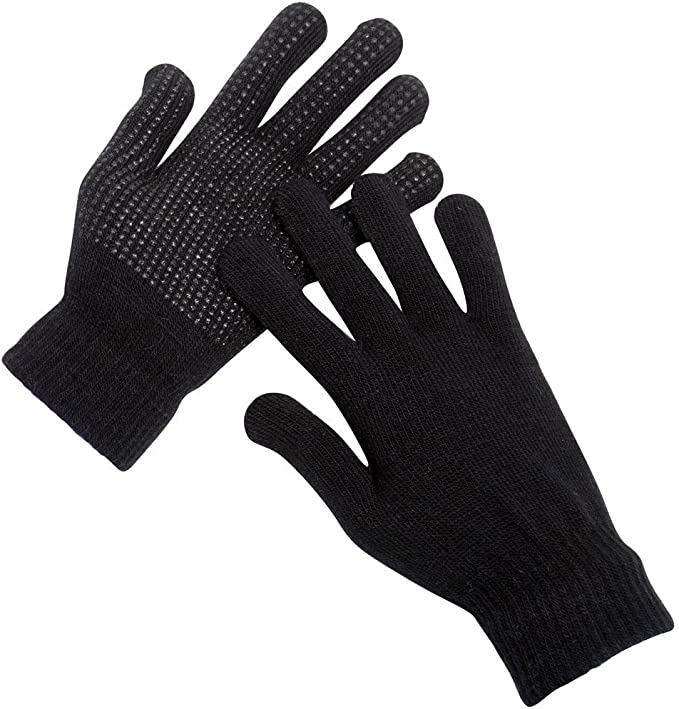 3 Pairs Adults Magic Stretch Gripper Winter Outdoor Thermal Gloves