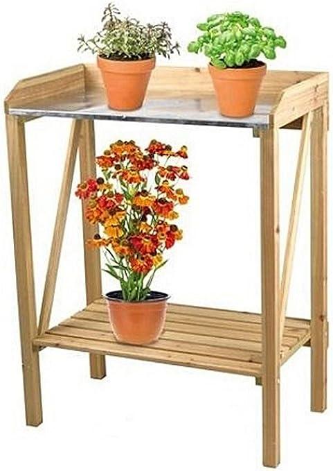 HHP Planta Mesa Mesa – Flores – Jardín de Trabajo Mesa – 70 x 40 x 90 cm: Amazon.es: Jardín