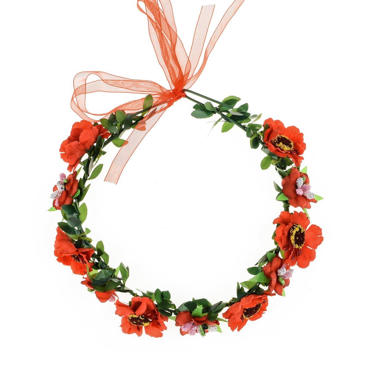 Amazon Floral Fall Boho Headband Flower Crown Festival Wedding