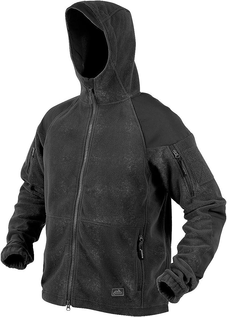 Helikon Cumulus Heavy Fleece Jacket Security Police Mens Hooded Tactical Black