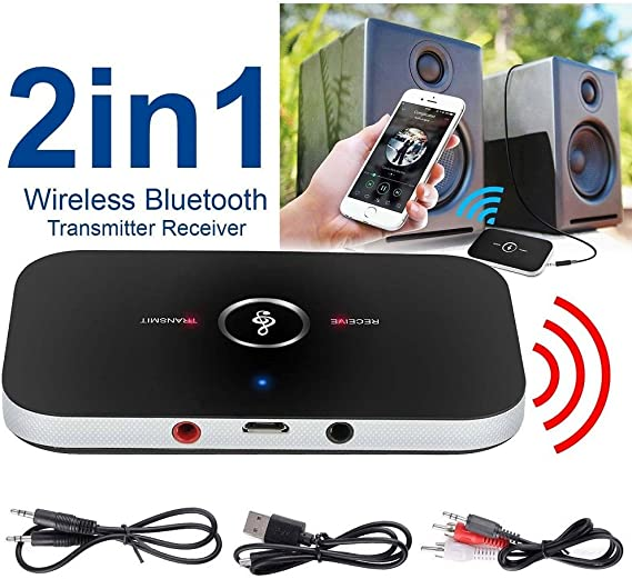 Bluetooth V4.2 Transmitter /& Receiver Wireless Audio 3.5mm Aux RCA Adapter