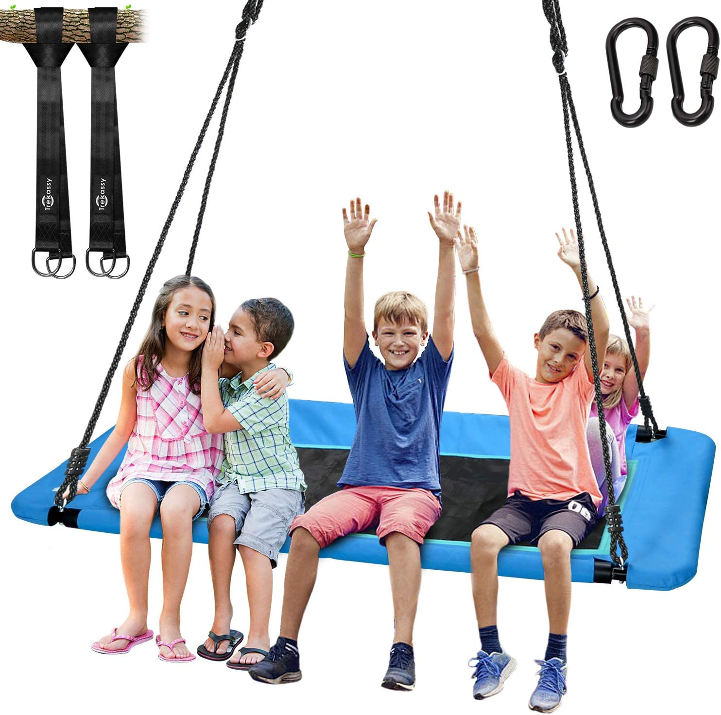 "Trekassy 700lb Giant 60"" Platform Tree Swing for Kids and Adults"