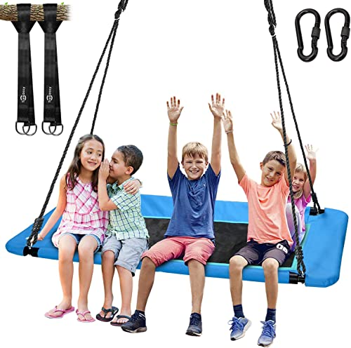 Trekassy 700lb Giant 60 Platform Tree Swing for Kids and Adults Waterproof with Durable Steel Frame and 2 Hanging Straps
