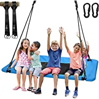 """Trekassy 700lb Giant 60"""" Platform Tree Swing for Kids and Adults Waterproof with Durable Steel Frame and 2 Hanging Straps"""
