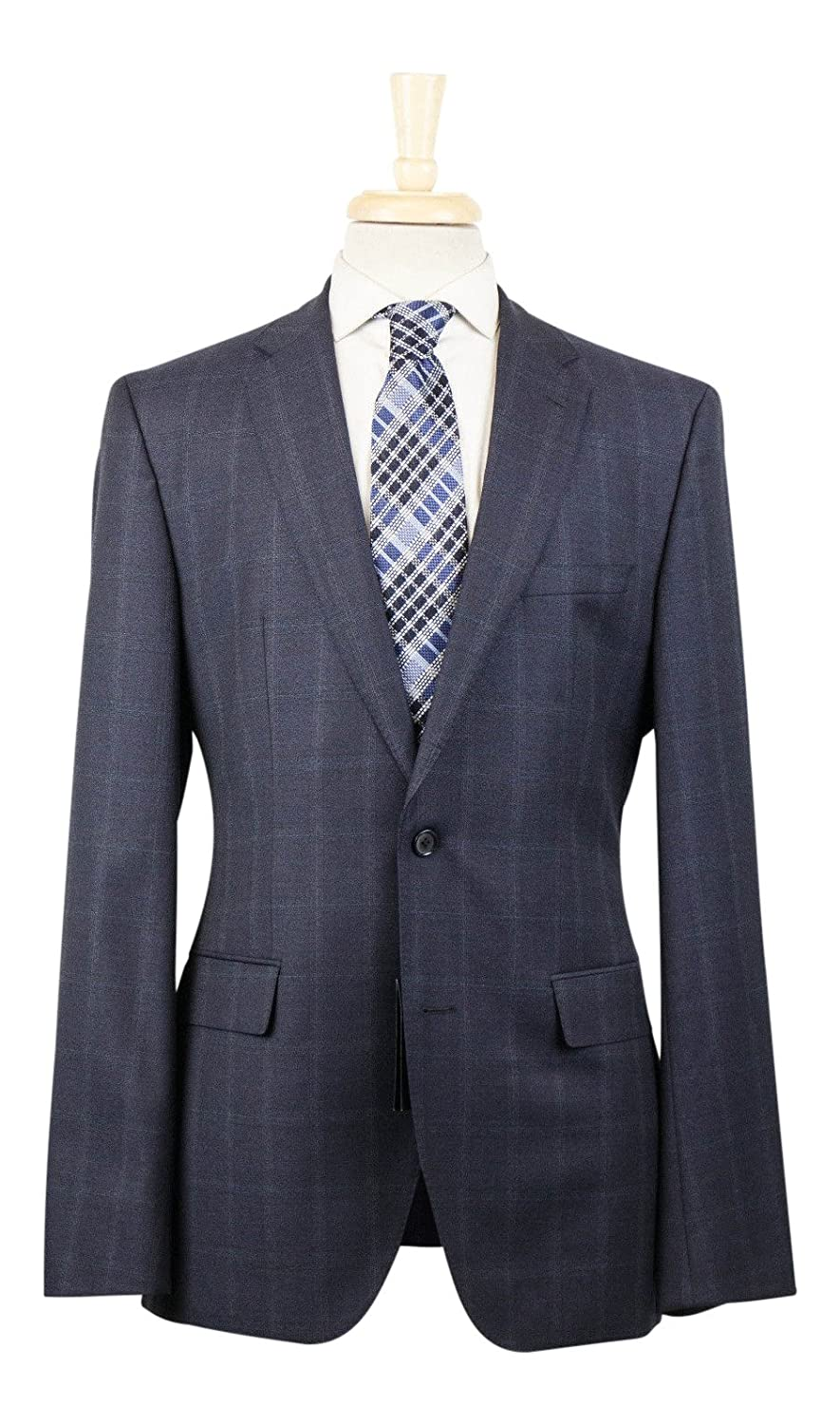 01414da8b9 HUGO BOSS BOSS BOSS Navy blueee Windowpane Wool 2 Button Suit Size 50 40 L  8f72d0