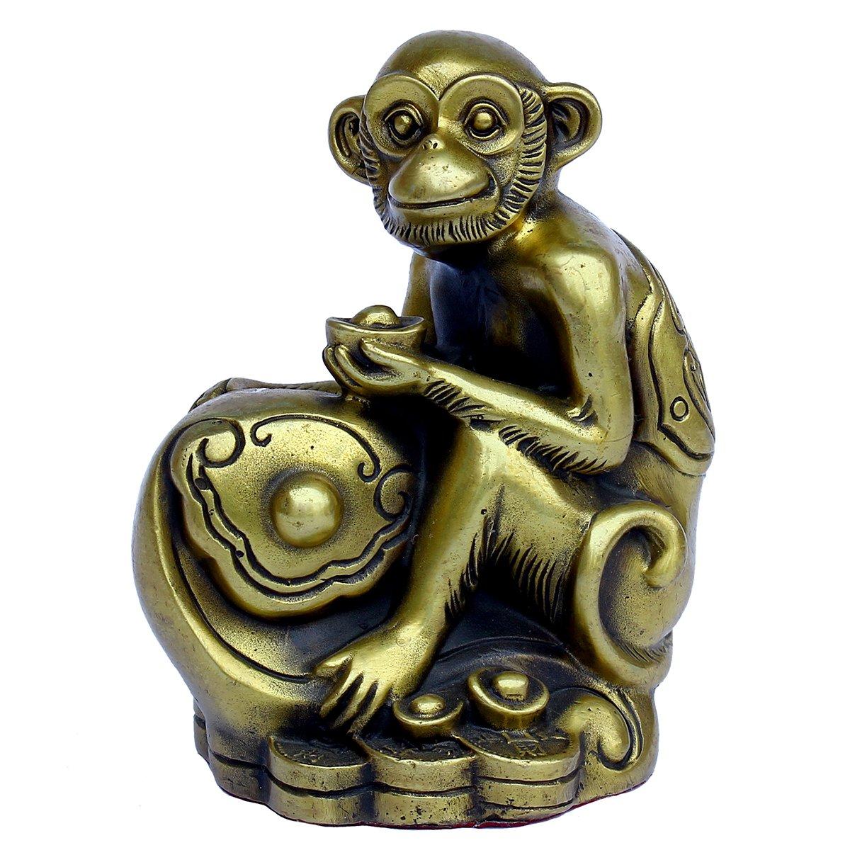 Handmade Chinese Zodiac Series- Brass Monkey Figurine Home Decor Gift