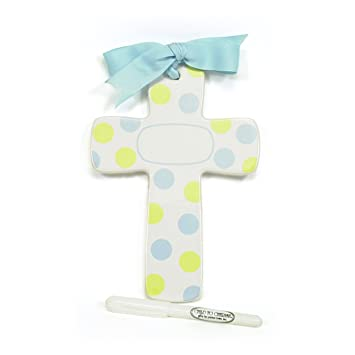Amazon Child To Cherish Bubble Double Dot Cross Blueyellow