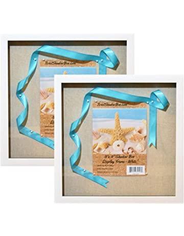 c77cf8252af4 Tasse Verre White Display Shadow Box Frame - Ready to Hang Shadowbox  Picture - Easy to