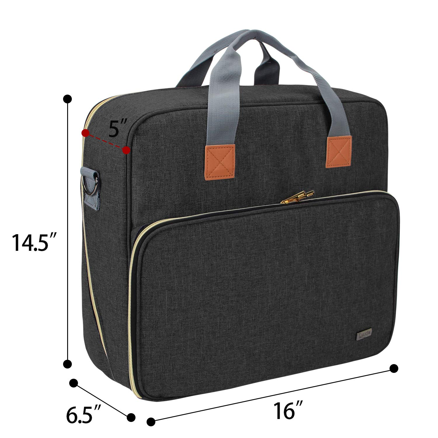 Storage Case Compatible with Cricut Easy Press 2 and Accessories 12 inches x 10 inches Luxja Carrying Bag Compatible with Cricut Easy Press 2 Black Bag Only