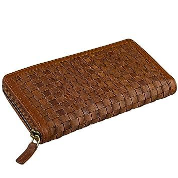STILORD Cartera Mujer Cuero Vintage Trenzado Billetera Grande señora Dama Monedero de auténtica Piel: Amazon.es: Equipaje
