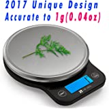 CICADA Digital Kitchen Scale Multifunction Food Scale,Range From 0.04oz(1g) to 11lbs(5000g)-Batteries Included