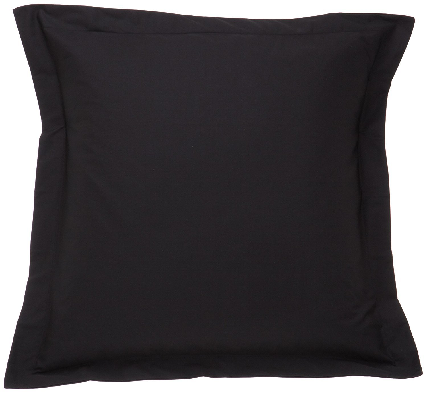 400 Thread Count Egyptian Cotton Pillow Shams Solid Euro/Square (28'' X 28'') Size (Pack of 2) by Precious Star Linen (Black)