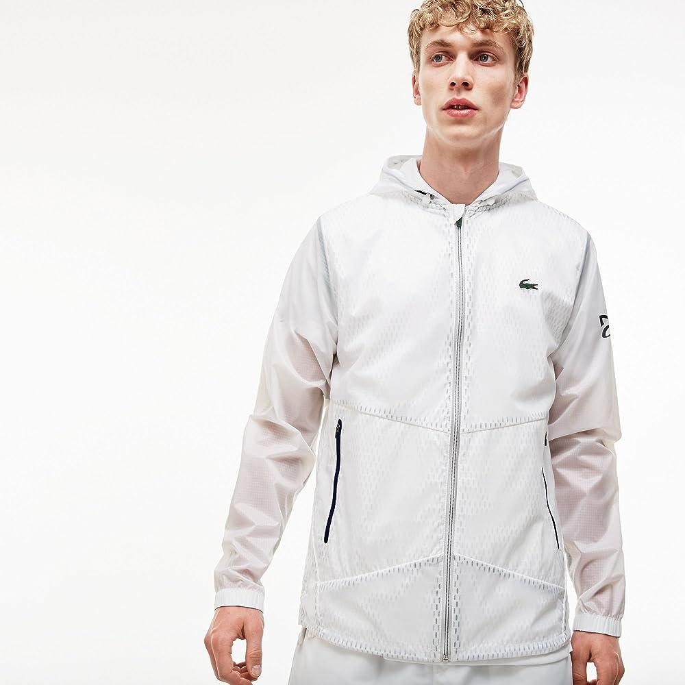 Lacoste - Chaqueta - para Hombre Blanco Blanc/Vert-Oceane 58 ...