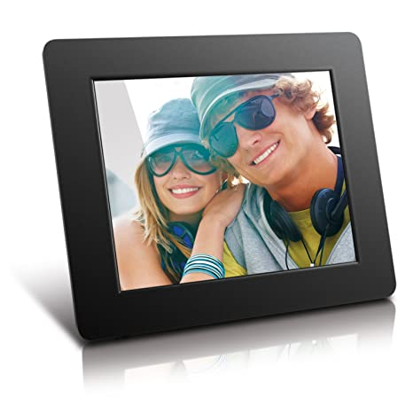 9f0136d899c6 Amazon.com   Aluratek 8 Inch LCD Digital Photo Frame USB SD SDHC with  Built-in Clock and Calendar (ADPF08SF) - Black   Digital Picture Frames    Camera   ...