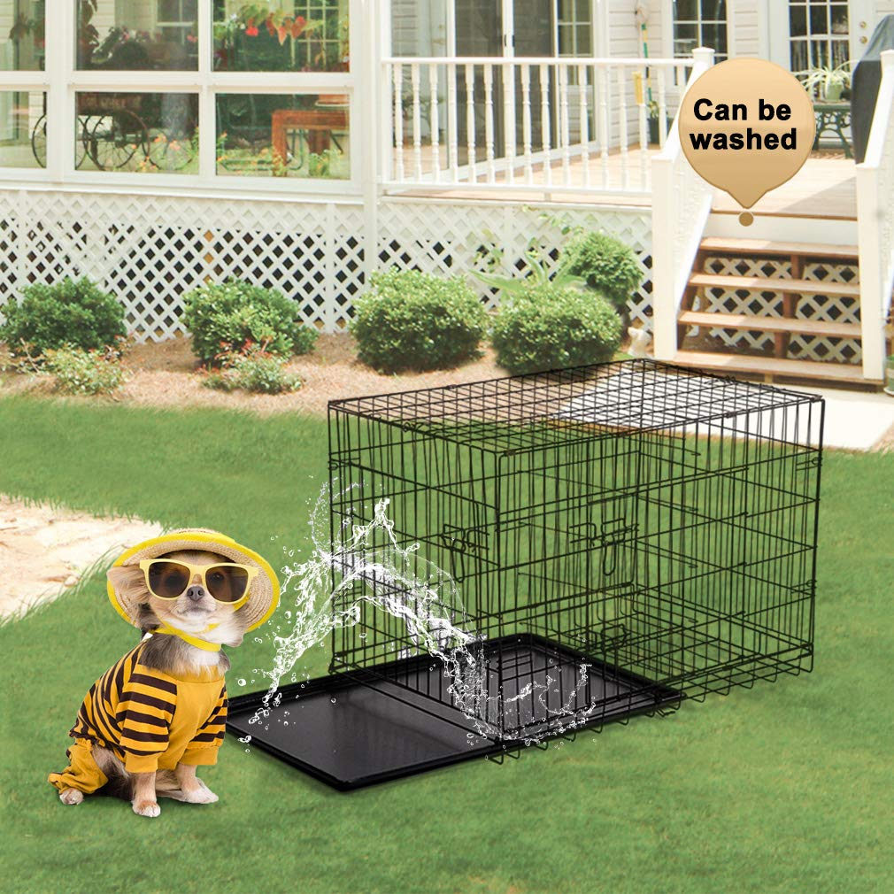 BestPet 42'' Pet Folding Dog Cat Crate Cage Kennel w/ABS Tray LC by BestPet (Image #4)
