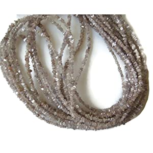 5 Strands Wholesale, 16 Inch Strand - Pink Diamonds Lot- Raw Uncut Diamond Beads - Rough diamonds - 2mm