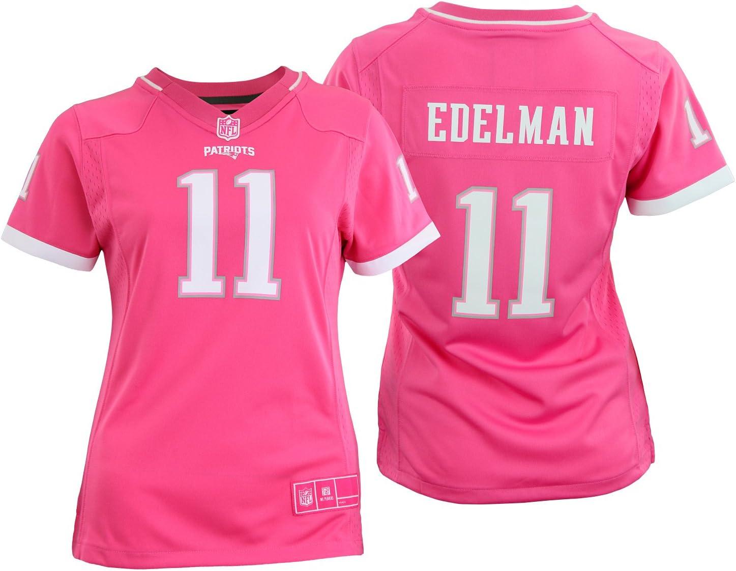 Outerstuff NFL - Camiseta para jóvenes de Nueva Inglaterra Patriots Julian Edelman #11, color rosa, Atlético, M, Rosado: Amazon.es: Deportes y aire libre
