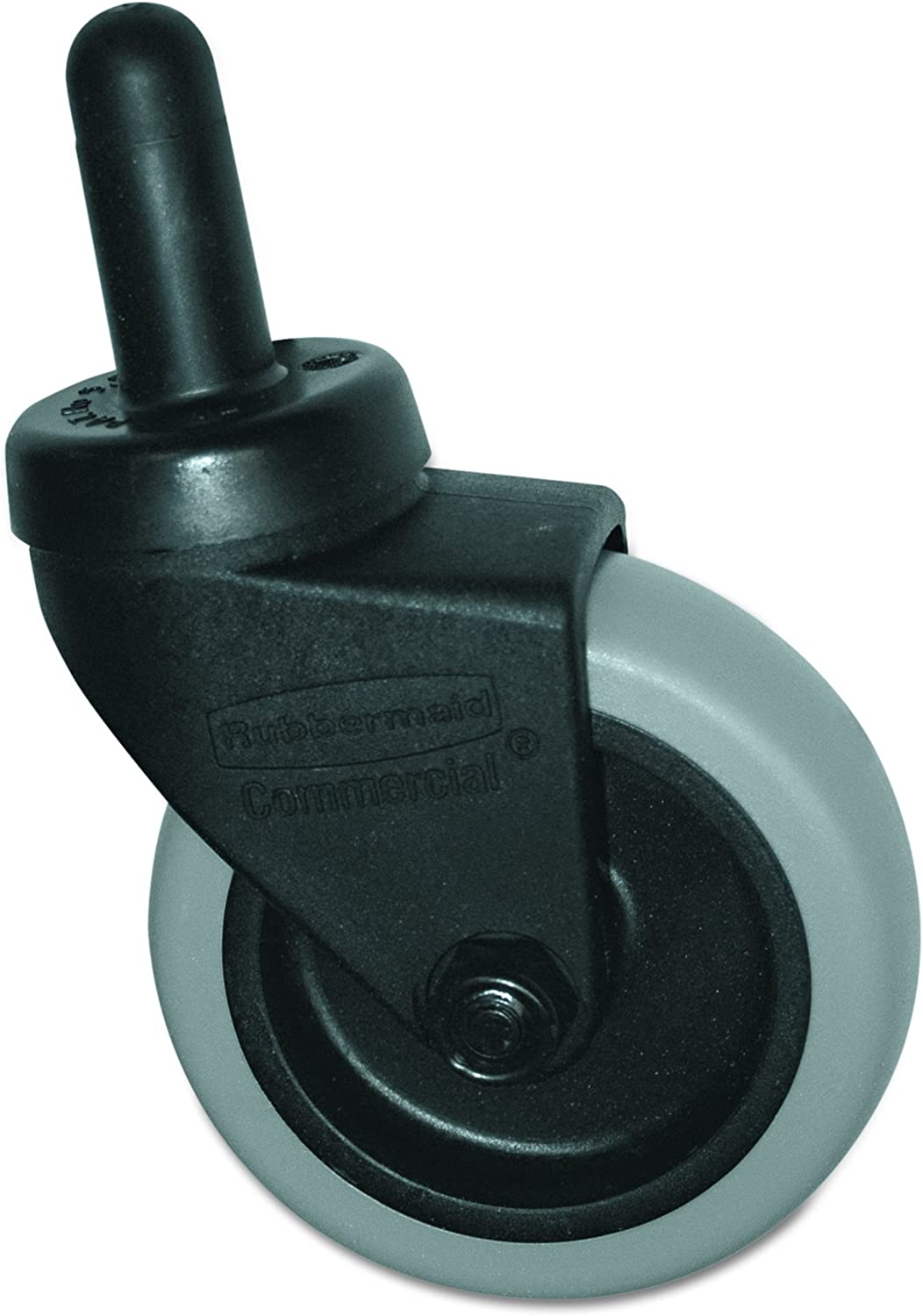 Rubbermaid Commercial 7570L2 Replacement Swivel Bayonet Casters with 3 Wheel and Thermoplastic Rubber Black
